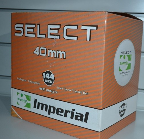 Imperial  Select 144er Packung 40 mm TT-Bälle, orange, Zelluloid